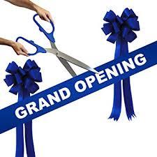 grand opening ribbon grand opening kit 25 blue silver ceremonial ribbon