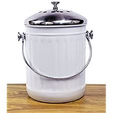 amazon com linkyo compost bin 4 filters stainless steel kitchen