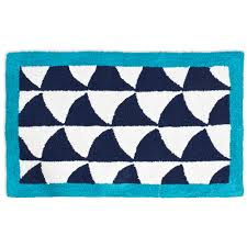 Navy And White Bath Rug Discover The Jonathan Adler Fishscales Navy U0026 White Bath Rug At