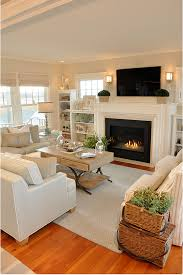 Coastal Cottage Living Rooms by Dream Beach Cottage With Neutral Coastal Decor Home Bunch