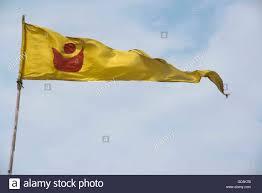 Th Flag Flag Of Jagannath Temple Beach Puri Orissa India Asia Stock