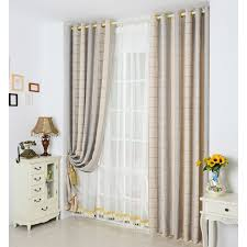 Plaid Blackout Curtains Modern Gold Blackout Polyester Plaid Curtains
