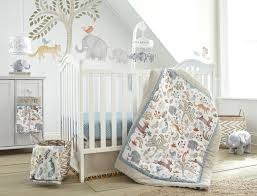5 Piece Nursery Furniture Set by Levtex Baby Jungalo Animal Themed 5 Piece Crib Bedding Set