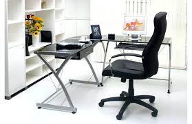 Chrome Office Desk Office Desk Glass Corner Office Desk Black Chrome Computer Glass
