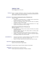 exle executive resume business development executive cv ctgoodjobs powered by career times