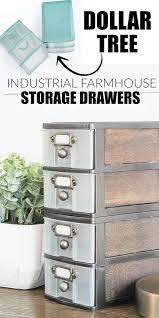 dollar store diy industrial farmhouse storage drawers