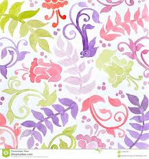 Hand Painted Wallpaper by Hand Painted Watercolor Flowers Ferns Curls And Flourishes In
