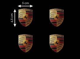stuttgart porsche logo set of 4 porsche crest sticker 6 5 x 5 cm selection rs