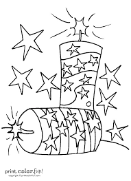fourth of july firecrackers coloring page print color fun