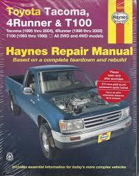 repair manual haynes 92076 for toyota tacoma 95 04 4runner 96 02