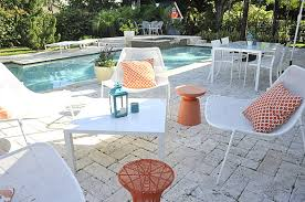 White Metal Patio Chairs Available Option To Adorn Your Outdoor With Patio Furniture