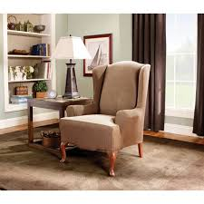 wing chair slipcover sure fit stretch stripe wing chair slipcover walmart com
