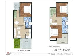 16 x 50 floor plans homes zone duplex house plans with garage arizonawoundcenters