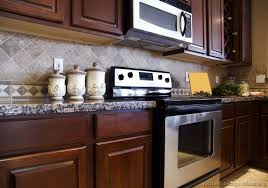 what backsplash looks with cherry cabinets tile backsplash ideas for cherry wood cabinets modern home