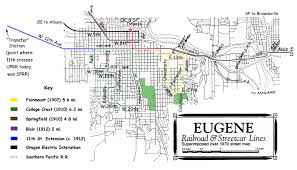 Map Of Southern Oregon by Eugene Streetcar System