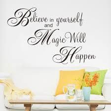 believe home decor magic will happen inspiration quote wall sticker decal home decor