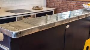 plan de travail cuisine en zinc projet de comptoir en zinc