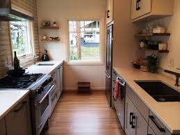 hickory wood harvest gold raised door small galley kitchen ideas
