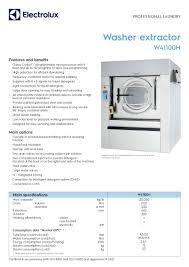 w41100h electrolux professional