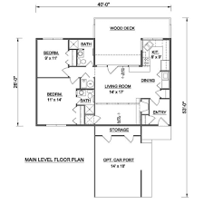 contemporary style house plan 2 beds 2 00 baths 950 sq ft plan