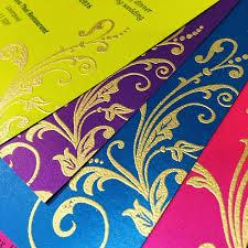 mehndi cards embossed swirls mehndi cards sijara designs