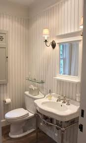 Beadboard For Bathroom Painted Bead Board Walls And Crown Molding Ceiling Tile In Shower