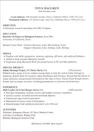 Resume For Internship Template Resume For Seeker With No Experience Business Insider Finance