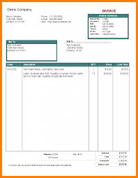 Simple Invoice Template 10 Invoice Template For Pages Park Attendant