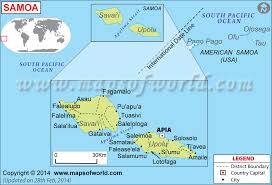 map samoa map