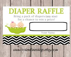 Raffle Tickets For Baby Shower Instant Download Diaper Raffle Tickets Twins Baby Shower Raffle