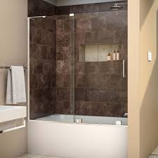 Home Depot Bathtub Doors Dreamline Mirage X 56 In To 60 In X 58 In Semi Frameless
