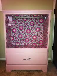 dress up closet using old dresser take out drawers and bars