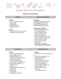 bridal registry checklist printable 7 free magazines from giftypedia