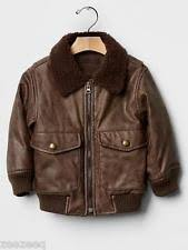 Boys Leather Bomber Jacket Gap Faux Leather Newborn 5t For Boys Ebay