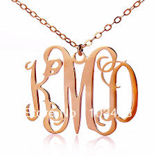 monogram jewelry cheap popular gold monogram jewelry buy cheap gold monogram jewelry lots