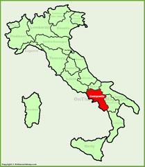 Maps Italy Campania Maps Italy Maps Of Campania