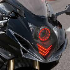 kt headlight for suzuki gsxr750 gsx r750 2011 2017 led red drl