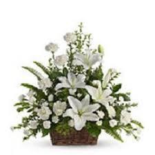 fleurs mariage corbeille dachine blanc fleurs mariage