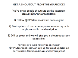 yearbook website get a shoutout on the yearbook website roosevelt middle school