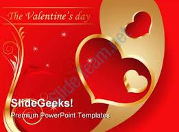 valentine day holidays powerpoint template 0610 powerpoint slide