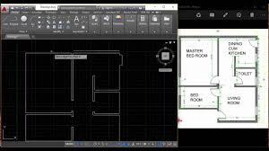 Cad Floor Plans by How To Draw A Floor Plan In Autocad Interior Design Tamil Youtube