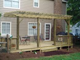 How To Make A Pergola by Backyard Decks And Patios Treated Deck Composite Deck Wood