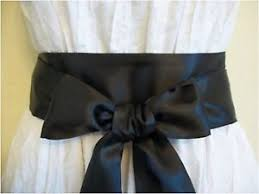 satin sash belt new 2 5 x85 black satin sash belt self tie bow update party prom
