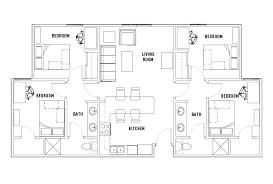 4 bed 2 bath phase 1 cullen oaks student housing houston tx