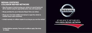 nissan finance total loss certified repair network nissan collision