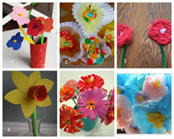 Homemade Flowers Having Fun At Home Ideas For Homemade Mother U0027s Day Bouquets