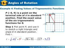 trigonometric functions in standard position slide 1