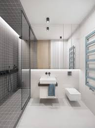 Modern White Bathrooms by Trendy Bathroom Designs Combined With Modern And Geometric Concept