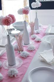 Baby Shower Table Centerpieces by Diy Baby Shower Ideas For Girls Centerpieces Bottle And Wine