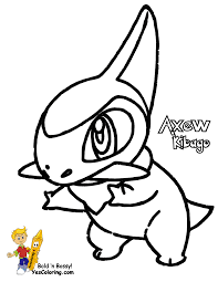 pokemon coloring pages axew 5 arterey info